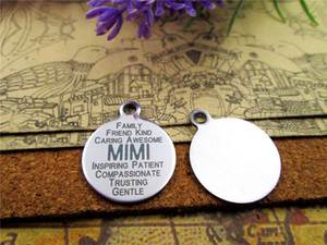 """40pcs--""""MIMI""""stainless steel charms more style for choosing DIY Charms pendants for necklace"""