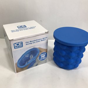 2 Taille silicone Ice Cube Maker Saving Genie Ice Buckets silicone Ice Maker Cuber Mold Espace Outils de cuisine Voyage avec Retail Box