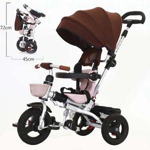 2020 دراجة جديدة للأطفال الوافدين ثلاثية العجلات للأطفال قابلة للطي 1-3-5 دراجة أطفال عربة أطفال تيتانيوم تيتانيوم