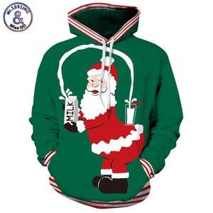 Mr.1991INC Yeni parodi Santa Claus baskı Rahat Tişörtü Erkekler / kadınlar hoodie kazak uzun kollu Kapşonlu Kazaklar M234