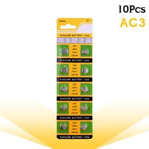 10 قطع / بطاقة AG3 لمشاهدة اللعب عن SR41 192 خلية عملة قلوية البطارية 1.55 فولت L736 384 SR41SW CX41 LR41 392 بطاريات