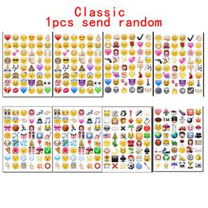 2018 1pcs New Cute Lovely 48 Die Cut Emoji Smile Stickers para para notebook, mensaje * Vinilo de alta calidad * divertido * creativo Enviar al azar