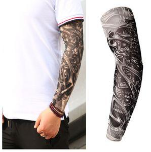 New Fashion deslizamento Temporary Tattoo Arm Proteção Tattoo mangas braço exterior Falso Falso mangas Temporária sobre Unisex UV Kit Mvfid