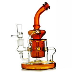 10 дюймов Торнадо Кляйн переработчик Бонг пьянящий DAB установок масло стекло перколятор бонги переработчик 14мм шт чаша насадкой проц водопровод WP308