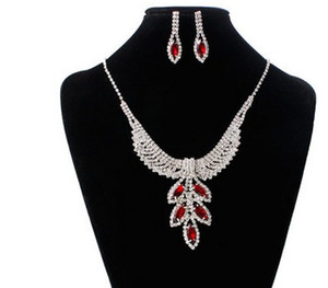 lustre de cristal de cristal gota wddding birde conjunto earings colar da senhora (11.5) sdsd