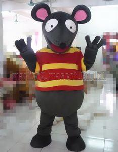 El tamaño del adulto del envío libre del traje de la mascota del ratón de Brown, fiesta de lujo del carnaval del juguete de la felpa de la mascota de la rata celebra ventas de la fábrica de la mascota.