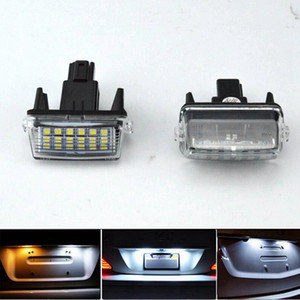 2PCS / الكثير لتويوتا ياريس Vitz كامري كورولا بريوس C Ractis فيرسو S بقيادة رقم الرخصة لوحة LED ضوء مصباح OEM استبدال