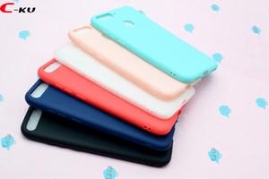 Para Huawei Honor 10 Lite 7C 7A Y9 2018 Xiaomi redmi NOTA 5A PRO Matte fosco suave TPU tampa de borracha doce 100pcs Luxo pele telefone celular