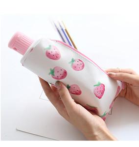 Schulbedarf Bleistift Taschen Klar Zahnpasta Rosa Federmäppchen mit Dekoriert in 4 Farben Singel Verpackung Box Kostenloser Versand