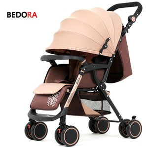 Bebaby poussette peut s'asseoir couché bébé chariot léger pliant à quatre roues poussettes absorbeur chariot