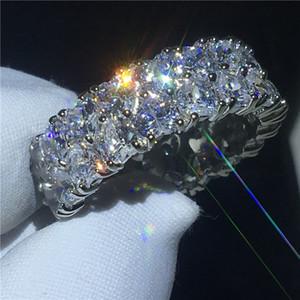Anello a forma di cuore di moda 5A Clear Cz Stone White Gold Filled Fidanzamento anello di fidanzamento per le donne Gioielli dito nuziale