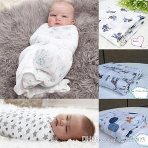 120x120cm Muslin Baby Swaddling Manta Recién nacido Bebé 100% Algodón Swaddle Towel Entrega al azar