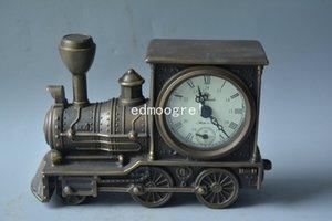 Qing Dynasty cobre real belleza reloj occidental, tallado a mano, trabajando correctamente, locomotora, bellamente diseñado, envío gratis
