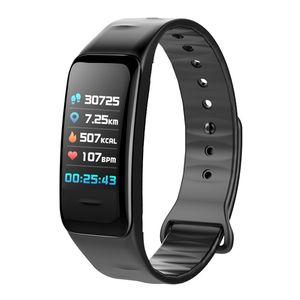 C1s Rastreadores de Fitness Atividade Pulseira Inteligente Monitor de Pressão Arterial de Freqüência Cardíaca Ip67 À Prova D 'Água Inteligente Wristand bom