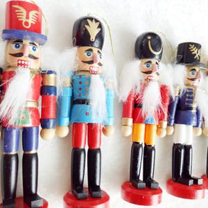 Neuer Entwurfs 15cm / 12cm Nussknacker Puppet Weihnachtsdekorationen auf Baum Hängen Weihnachtsbaum Ornamente Schöne Holz-Karussell