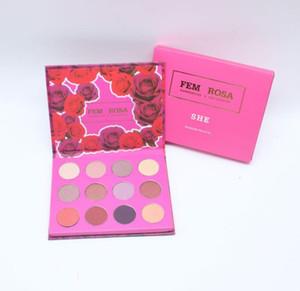 ColourPop Set Makeup ColourPop Fem Rosa Set 12 color Sombra de ojos Resaltador Colorete Rosa Paleta a1008