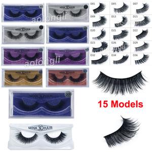 Новый макияж 3D норки ресницы густые реальные норки волос накладные ресницы естественный длинный красоты расширение поддельные ресницы накладные ресницы 15 модель