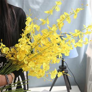 LIN MAN Artificielle Fleurs Danse Orchidée Papillon Orchidée pour Maison Maison De Mariage Festival Fête Décoration Vente Chaude