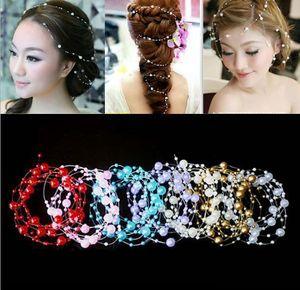 Pas cher Vente Accessoires De Cheveux De Mariée Perles Chapeaux Ornés Bouquets De Dyi Blanc Ornés Perles Pour Mariage Mariée Accessoires Pour Chapeaux