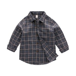 C21806121133 Children's wear children's long-sleeve checkered shirt baby boy spring autumn new shirt in the children's casual jacket tops