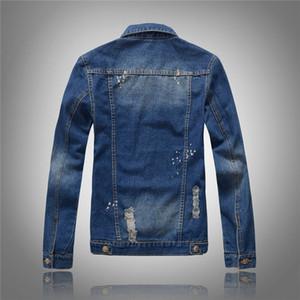 Доставка Biker Mens Womens Hip Hop Coats Pault Overcoat Eartwear Бесплатно Джинсовые мотоцикл Куртки Топы 2021 Голубые Куртки Отверстия JLSVW