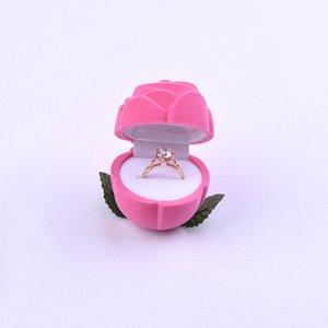 Collana creativa Rose Jewellery Box flanella dell'anello di orecchio Nail Organizzatore Pure Color Pop Accessori Regali bagagli Caso 2 98ms X