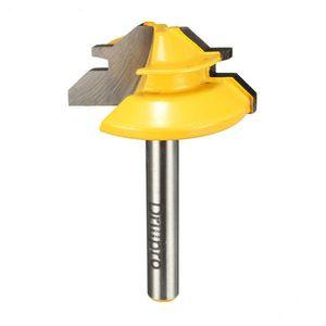 1/4 de polegada cortador pequeno da espiga do bocado do router da mitra do ângulo da haste 45 ° para o Woodworking