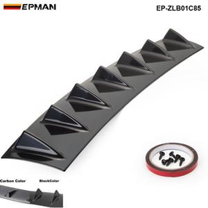 """EPMAN - Shark Fin 7 Wing Lip Diffuseur 33"""" x6"""" Pare-chocs arrière Châssis ABS Universel Noir / Couleur carbone EP-ZLB01C85"""