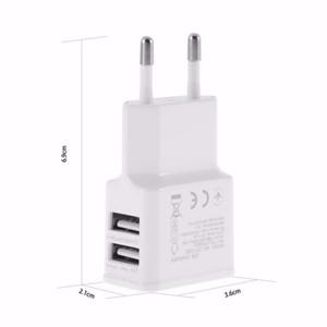 5V 2A ЕС / США Plug Dual USB 2-портовый мобильный телефон Travel Home Wall Зарядное устройство Адаптер 2A / 1A для Samsung iPhone LG HTC Sony Белый Черный