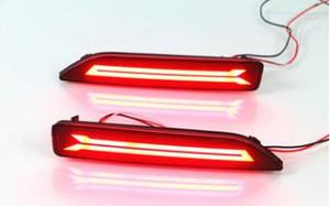 2PCS frete grátis para Honda CRV CRV 2007 2008 2009 Multi-função LED pára-choques traseiro Luz traseira Fog Lamp Auto Bulb luz de freio refletor