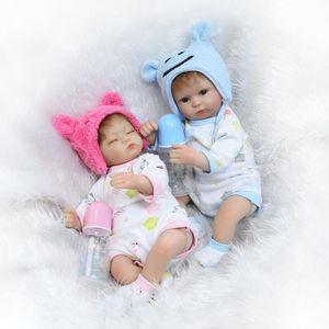 2017 gêmeos bebe reborn 42 cm silicone reborn dolls lifelike recém-nascidos bebês brinquedos toque macio bebe toys bonecas renascer de silicona