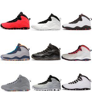 الاسمنت الجديد Westbrook 10 10s Black أحذية كرة السلة للرجال أبيض أسود Steel Grey Chicago Orlando Powder Blue GS Fusion حذاء رياضي رياضي