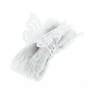Kelebek Peçete Halkası yanar döner Kağıt Düğün Serviette Masa Dekorasyon Aksesuarları Ziyafet Akşam Dekor 108Pcs / lot