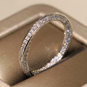 Victoria Mignon Victoria Wieck Luxury Juifs de luxe 925 Sterling Silver Corses Band Pave Blanc Saphir CZ Diamond Femmes Parti de mariage pour les amoureux