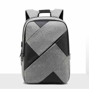 Sac à dos de chargement pour hommes Sac à dos créatif de couleur unie Oxford Tissu 2018 Mode Sac pour ordinateur portable