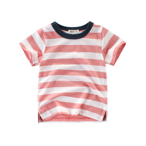 2018 Summer New Enfant Boys T-shirt Cotton O-Neck Children Clothing Stripe Tops Kids undershirt Baby Short Sleeve T-Shirt 2-8y