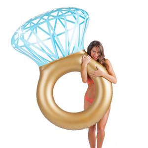 Vendita calda Giant Diamond Ring gonfiabile materasso nuoto piscina cerchio galleggiante Boia piscina partito giocattolo tubo zattera per bambini adulti
