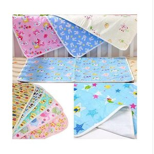 S-XL Pink Yellow Blue Cotton Portable Urine Mat Waterproof Baby Infant Bedding Changing Nappy Cover Pad