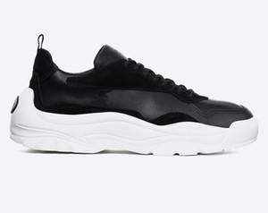 Nova Moda de luxo camurça de couro das sapatilhas dos homens das mulheres do esporte designer de sapatos de qualidade superior de couro de bezerro sola de borracha italiana sapatos venda tamanho 12