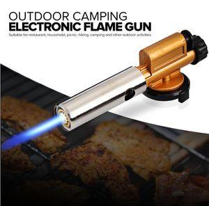 Allumage électronique Cuivre Flamme Butan Gaz Brûleurs Pistolet À Lampe Torche Briquet Pour Camping En Plein Air Pique-Nique BBQ Matériel De Soudage