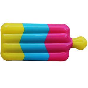 La piscina gonfiabile del gelato di 3 colori fa galleggiare l'originalità del PVC il letto di galleggiamento di Popsicle L'estate nuota la fila di galleggiamento Vendita diretta della fabbrica 30xra X
