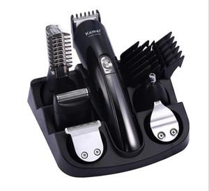 6 en 1 pelo hombre condensador de ajuste de la preparación del pelo kit podadoras de máquina de afeitar eléctrica hombres barbero Styling Salon de afeitar del peluquero de corte de la máquina