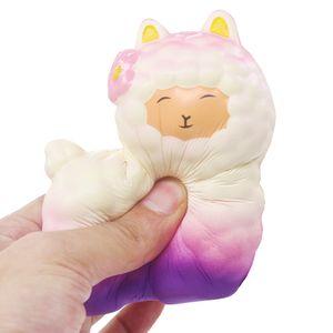 Squeeze Cute Sheep Alpaca Super Rising Rising Parfumé Fun Animal Jouets Squishy Cartoon Squish Toys Squeeze Nouveauté Antistress Cadeau
