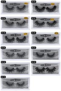 HOT New 3D Vison Cils Cils Messy Eye Extension Sexy Cils Strip complet Cils par fibre chimique expédition DHL épais