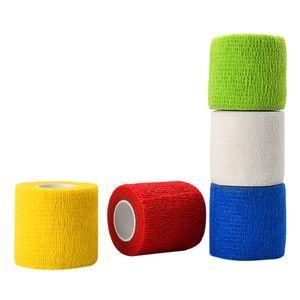 5 Renk Elastik Bandaj Medikal Bant Tek Nonwoven Su geçirmez Kendinden yapışkanlı Elastik Bandaj Dövme Aksesuarları Tutma Su geçirmez