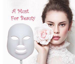 جودة عالية الصمام قناع الوجه العناية بالبشرة 7 ألوان الأنوار الصمام ضوء العلاج بقيادة الفوتون PDT قناع الجلد تجديد الجمال العلاج