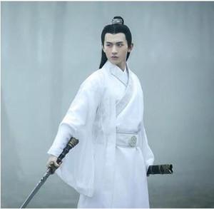 2018 été hommes hanfu costume cosplay vêtements chinois traditionnel danse vêtements garçon homme chinois ancien robe danse folk cos