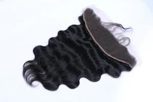 Ohr zu Ohr Verschluss Frontal 13x2' 13x4 13x6-Körper-Welle Frontal Schliessen mit Baby-Haare-volle Spitze Frontal Closure-natürlicher Farbe Haar