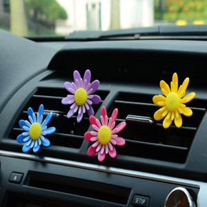 Car Air Conditioning Vent Perfume Rotating Small Flowers Car Fragrance Except Odor Air Outlet Decoration Solid Aroma 50 Pairs