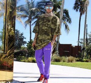 PALM ANGLES Stil Kazak pantolon Gosha Rubchinskiy Vetements 2018 ASAP kayalık Grafik Işlemeli Yan Çizgi Jogger kaykay maksi elbiseler